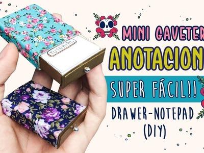 MINI GAVETERO DE ANOTACIONES ✏️  DIY tiny drawer-notepad