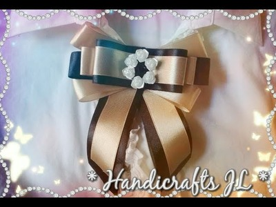 Moño de listón. moño victoriano para blusas. ribbon bow step by step