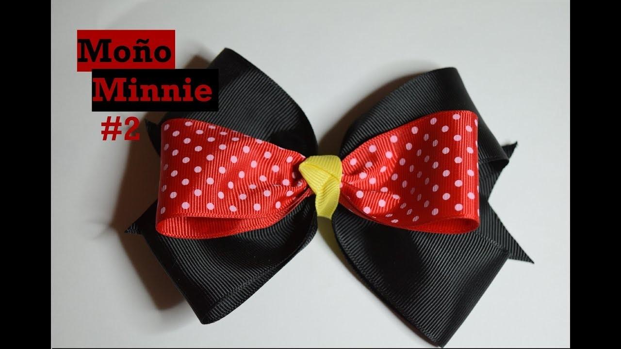 Moño Minnie #2 - Tutorial - DIY - Hair bow - AnabelMonGar