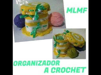 ORGANIZADOR A CROCHET - Manualidades La Manita Felíz