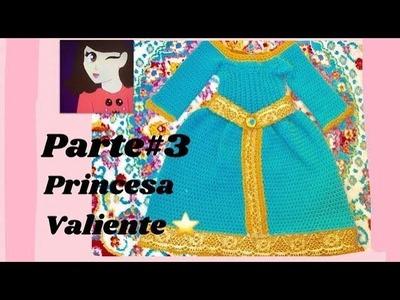Princesa Valiente Vestido a crochet parte #3)-Tejiendo Con Erica.