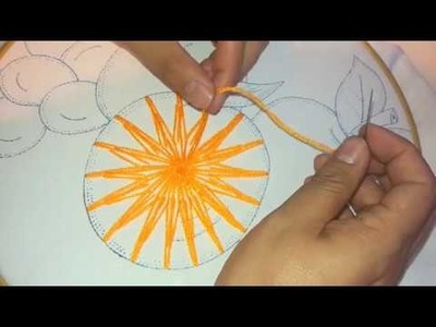 Puntada Fantasia Estrella en Naranja Facil