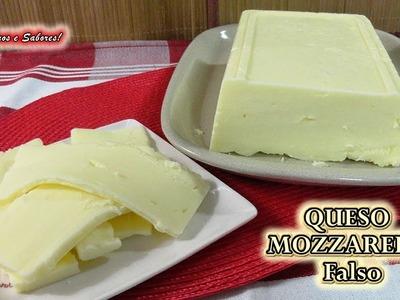 QUESO MOZZARELLA FALSO, el queso más fácil de hacer y muy delicioso