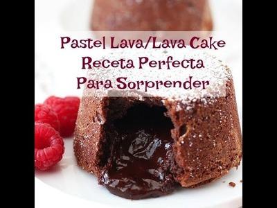 Receta Pastel Lava De Doble Chocolate(Postre De Lujo)