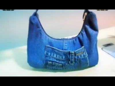 Reciclaje de Jeans: Bolsito para el día a día (Incluye Moldes)