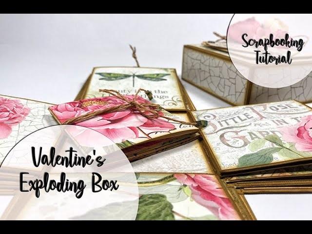 Scrapbooking - Valentine's Exploding Box Tutorial