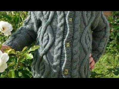 Sueter tejido de niño talla 8 dos agujas - espalda