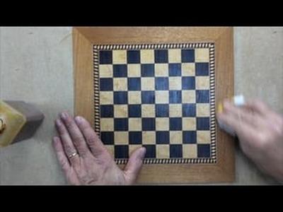 Tablero de Ajedrez en Marquetería Con Chapa de Sicomoro y Ébano. Greca y Enfajado de Caoba HD #chess