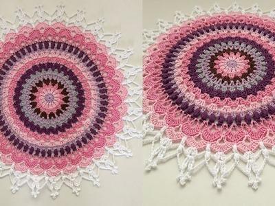 TAPETE REDONDO  Tejidos a Crochet