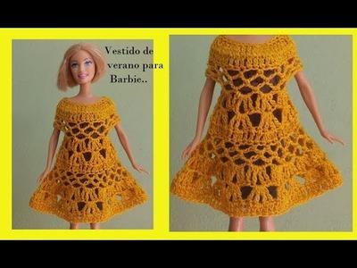 Vestido de verano para  barbie