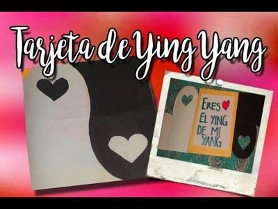 Ying yang.  ¡como tarjeta! | DIY love