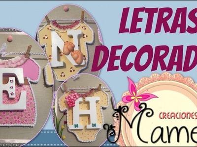 3ª Parte Cuadro infantil de letras decorado con gomaeva Creaciones Mamem