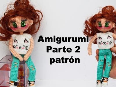 Amigurumi, muñeca moderna adolescente parte (2.4)