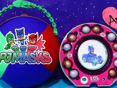Bola gigante DIY PJ Masks Héroes en Pijamas | Muñecas y juguetes con Andre para niñas y niños