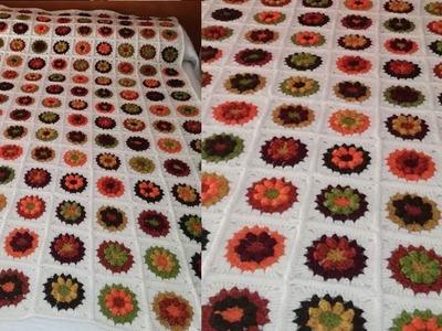 Colcha de Square  Tejido a Crochet
