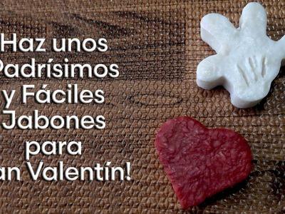Como hacer Jabones de cualquier forma para regalo de San Valentín
