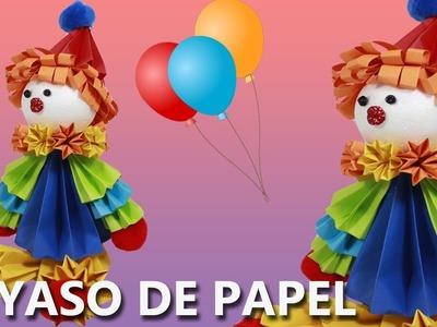 COMO HACER UN PAYASO de PAPEL FÁCIL | Manualidades con papel