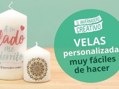 Cómo personalizar velas (MUY FÁCIL) - How to customize candles
