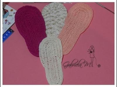 Cómo tejer suelas o plantillas a crochet