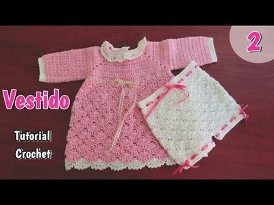 Como tejer un vestido para bebe de invierno (2.2)
