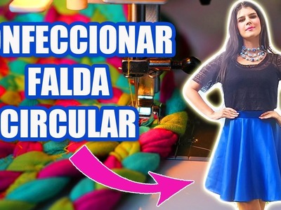 COSER Y CONFECCIONAR FALDA CIRCULAR CON PRETINA MUY FÁCIL!!  DIY - MariG