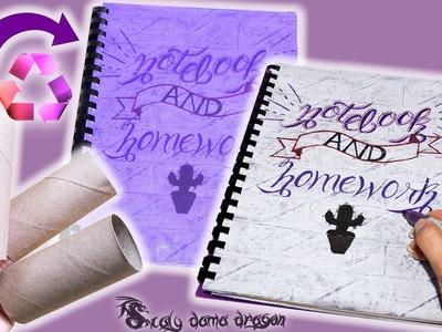 Crea tu propio cuaderno, libretas de notas y tareas con rollos de papel