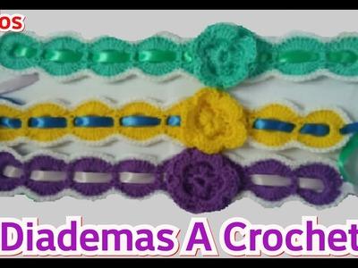 Crochet: Diadema, Vincha o Banda Con Flor - Manualidades La Manita Felíz
