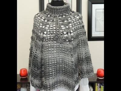 Crochet: Poncho o Capa Elena