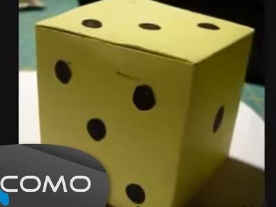 Cubo de papel o cartón - Dado