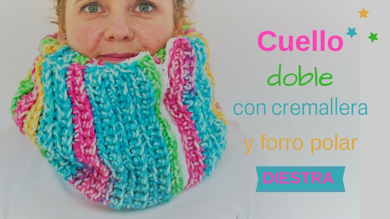 CUELLO INFINITO CON CREMALLERA | DIESTRA | CHIC DIY