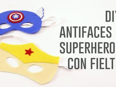 DIY antifaces de superhéroe con fieltro