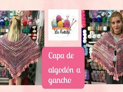 DIY | CAPA DE ALGODON EN GANCHO | TEJIENDO CON ESTAMBRES LA PUNTADA | PACO