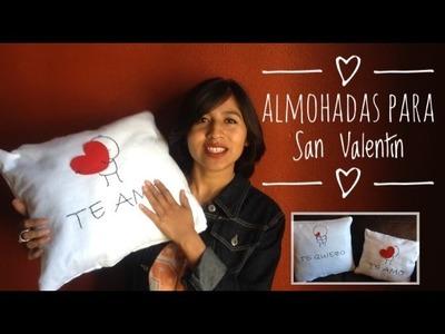 DIY - Cojines decorativos para San Valentín - FÁCIL
