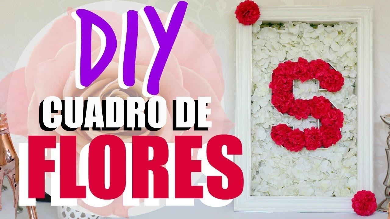 DIY! CUADRO DE FLORES PARA BABY SHOWER O TU CASA!