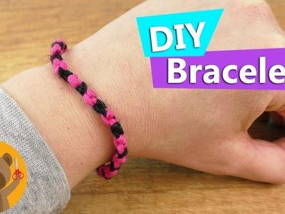 DIY manilla|Aprende a hacer manillas de amistad | muy fácil en negro y rosa|DIY joyas