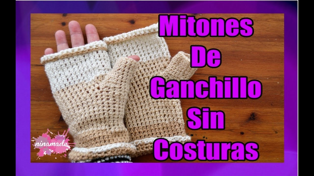 DIY. Mitones De Ganchillo Para Principiantes. Muy Fácil!.Crochet Fingerless Mittens For Beginners