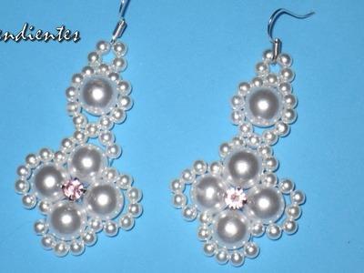 DIY - Pendientes faciles para novias - tutorial prinpiantes -   DIY - Easy earrings for brides -