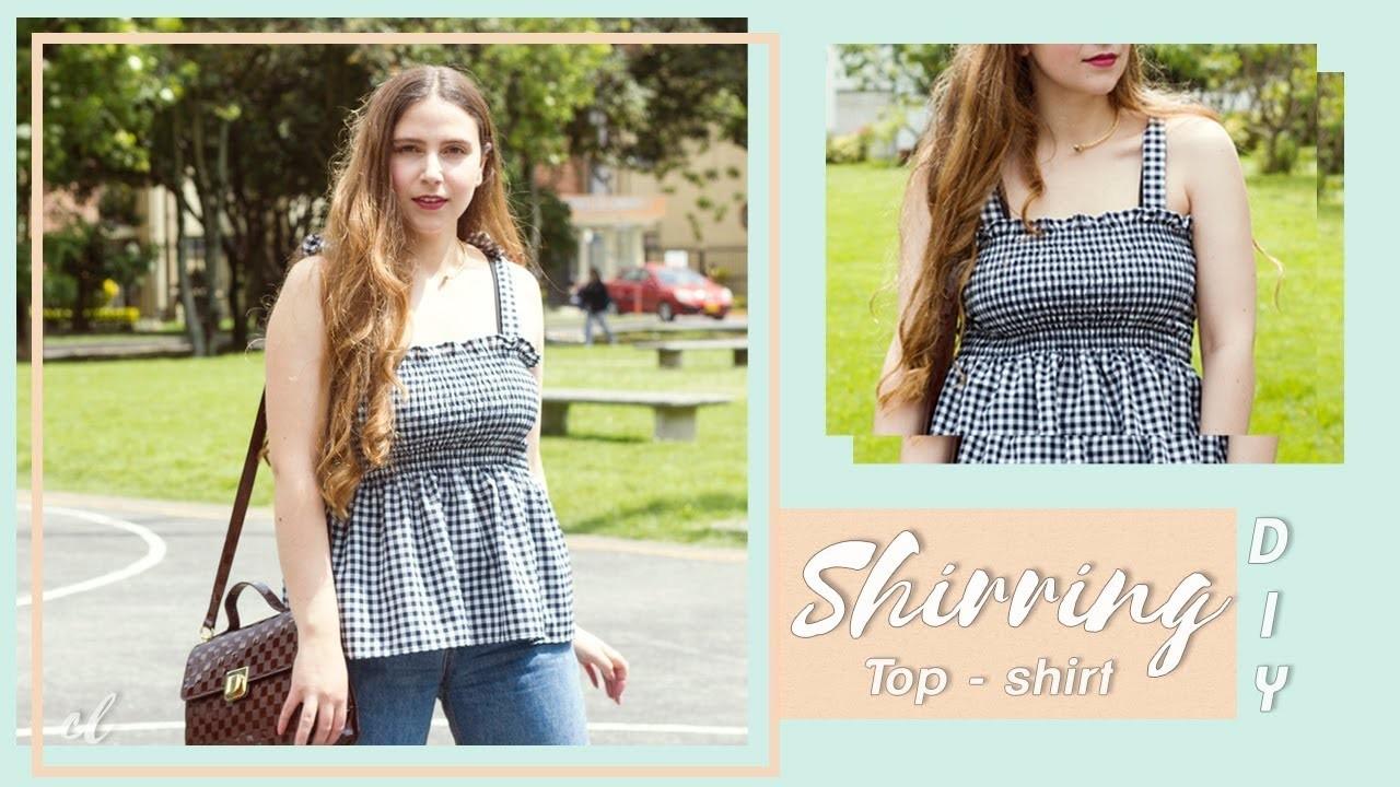 DIY Shirred Top - Blusa con Fruncido #tutorial   Carolina Llano