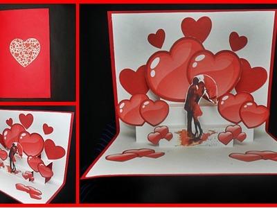 DIY - Tarjeta POP UP - Dia de San Valentin