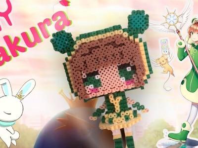 DIY. Tutorial ♥  Sakura Card Captor. Clear Card ♥  Pearl  Hama Beads (3D) (≧ω≦)