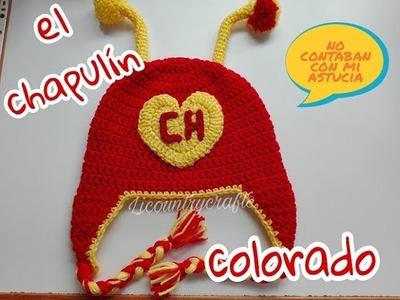 El Chapulin Colorado gorro tejido a crochet
