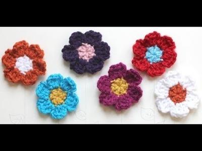 Haz tus flores de Crochet! Fácil y Rápido