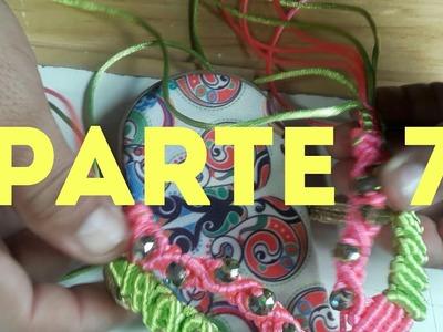 Huarache verde y rosa parte#7