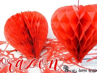 Ideas para San Valentín. Colgante de Corazón Nido de abeja