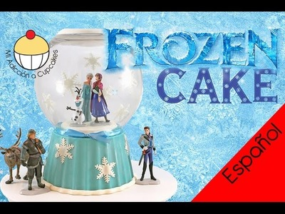 ¡Torta de FROZEN en un Globo de Nieve!  ¡Haz una Torta de Princesas Frozen de Disney