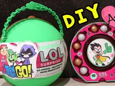 LOL Big Surprise Teen Titans Go! DIY | Jugando muñecas y juguetes con Andre para niñas y niños