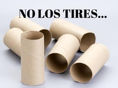 Manualidades con rollos de papel higiénico.Best out of waste DIY