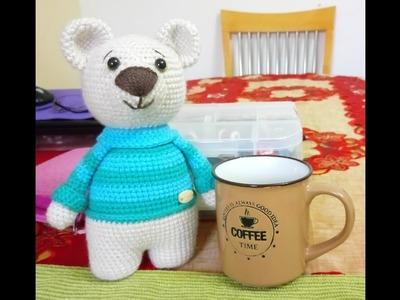 Materiales Oso Teo Amigurumi a Crochet