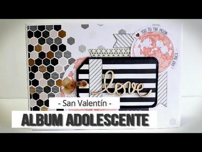 MINI ALBUM SAN VALENTIN PARA UN ADOLESCENTE - TUTORIAL | LLUNA NOVA SCRAP