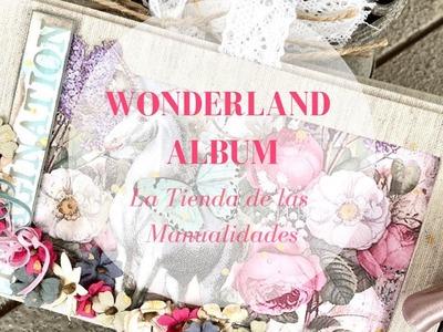 Mini álbum Wonderland - La Tienda de las Manualidades